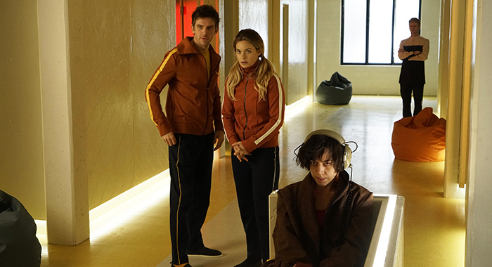 Dan Stevens, Rachel Keller, Aubrey Plaza in Legion ep 1 (Chris Large/FX)