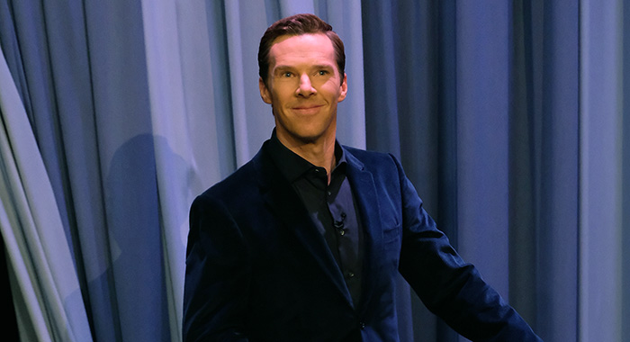 "Benedict Cumberbatch on ""The Tonight Show Starring Jimmy Fallon"" (Theo Wargo/Getty Images for NBC)"