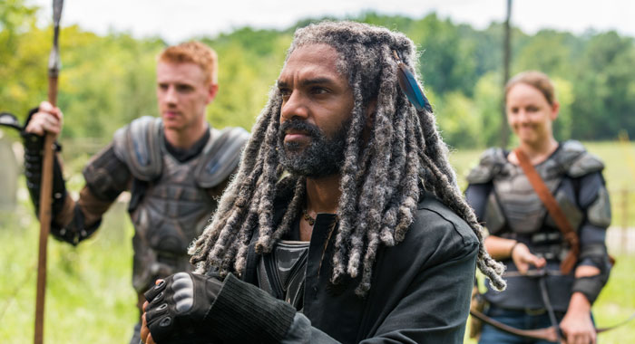 Khary Payton, Josh Mikel, Kerry Cahill in The Walking Dead (Gene Page/AMC)