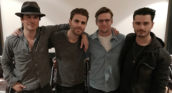 The Vampire Diaries screening 3/1/17 Los Angeles: Ian Somerhalder, Paul Wesley, Zach Roerig, Michael Malarkey (The CW)