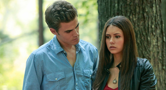 Paul Wesley, Nina Dobrev in The Vampire Diaries (The CW)