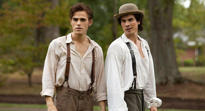 Paul Wesley, Ian Somerhalder in The Vampire Diaries (The CW)