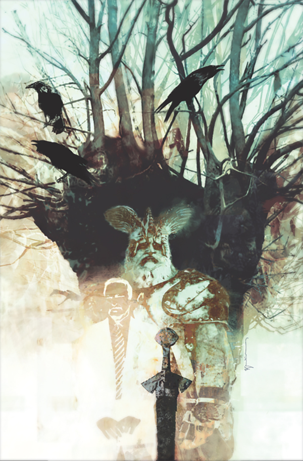American Gods #2 variant cover by Bill Sienkiewicz (Dark Horse Comics, Inc.)