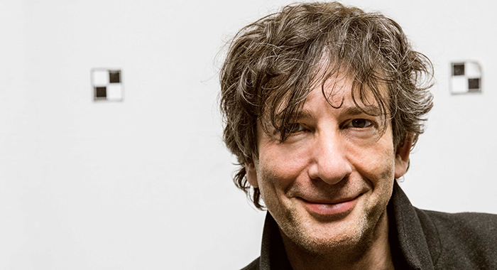 Author Neil Gaiman at the start of production on Starz series American Gods (Starz)
