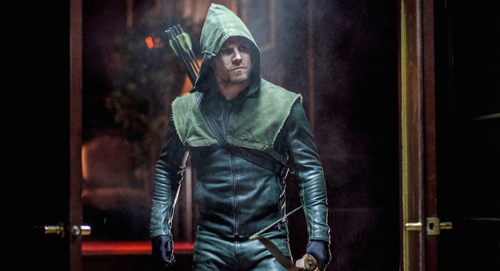 "Arrow -- ""Kapiushon"" -- Image AR517b_0016b.jpg -- Pictured: Stephen Amell as Oliver Queen -- Photo: Robert Falconer/The CW"