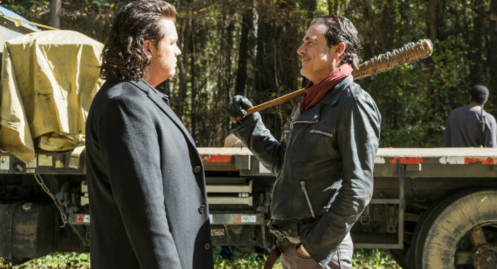 Josh McDermitt , Jeffrey Dean Morgan in season 7 of The Walking Dead (Gene Page/AMC)