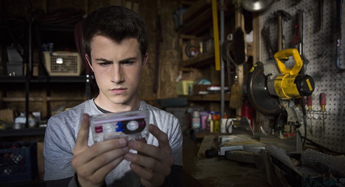Dylan Minnette stars in 13 REASONS WHY (Beth Dubber/Netflix)