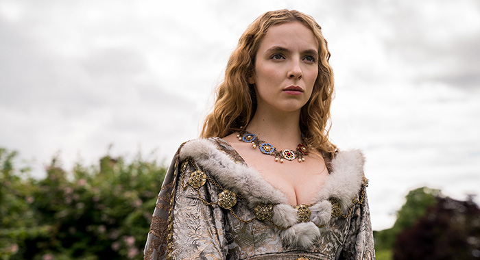 Jodie Comer (Elizabeth of York) in The White Princess (Starz)