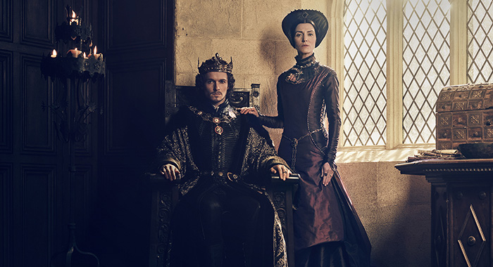 Jacob Collins-Levy (King Henry VII), Michelle Fairley in The White Princess (Starz)