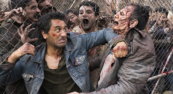 Cliff Curtis as Travis Manawa - Fear the Walking Dead _ Season 3, Episode 1 (Michael Desmond/AMC)
