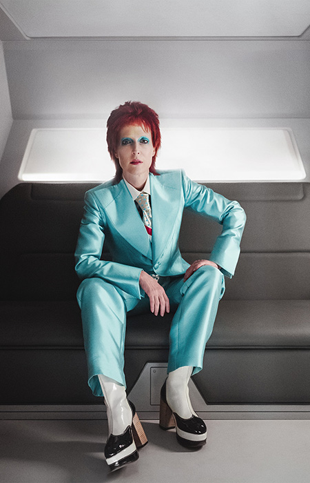 Gillian Anderson as Media (as David Bowie) on American Gods (Starz)