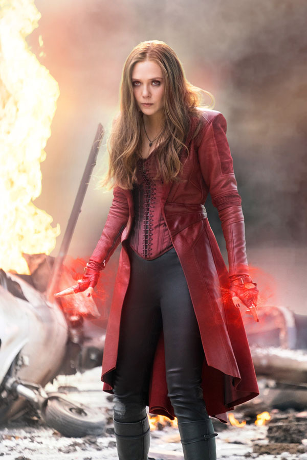 CAPTAIN AMERICA: CIVIL WAR, Elizabeth Olsen (as Scarlet Witch ...