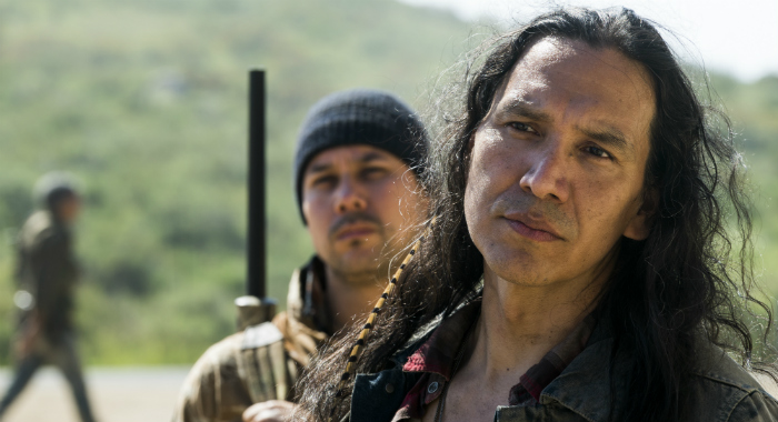 Michael Greyeyes as Qaletaqa Walker - Fear the Walking Dead _ Season 3, Episode 7 (Richard Foreman Jr/AMC)