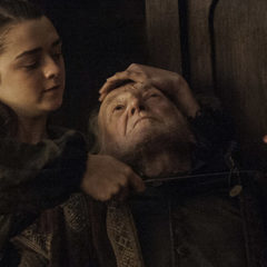 Game of Thrones - Maisie Williams, David Bradley. photo: Helen Sloan/courtesy of HBO