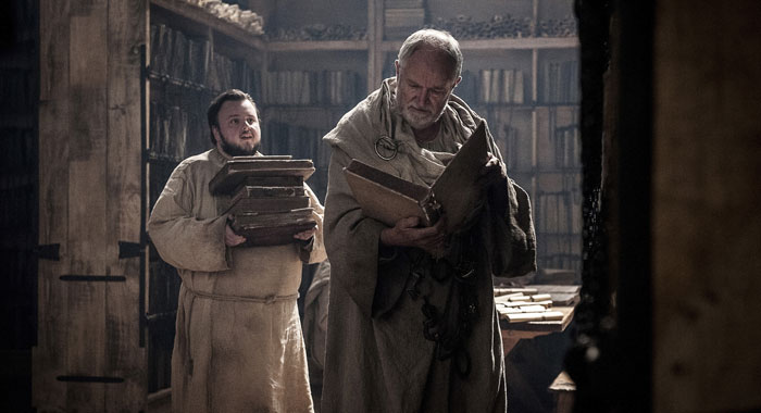 Game of Thrones, season 7: John Bradley, Jim Broadbent (Helen Sloan/courtesy of HBO)