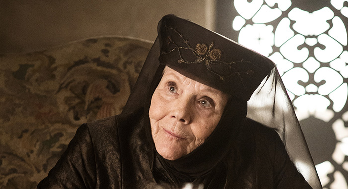 Game of Thrones, s7ep3 - Diana Rigg as Olenna Tyrell – Photo: Helen Sloan/HBO