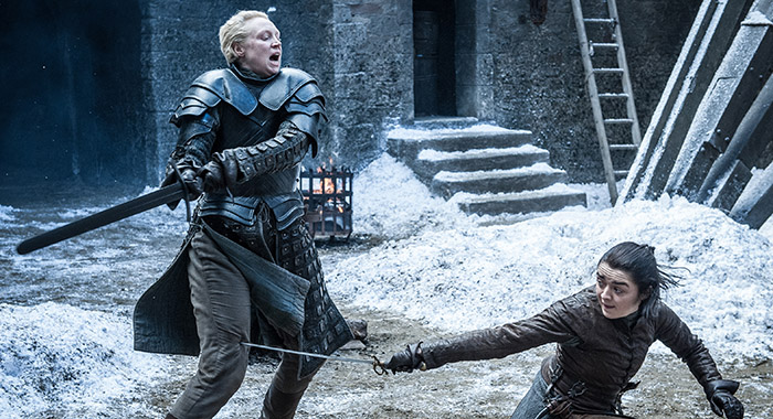 Game of Thrones - Brienne, Arya (Helen Sloan/HBO)