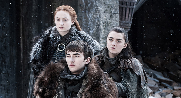 Game of Thrones - Sansa, Bran, Arya (Helen Sloan/HBO)