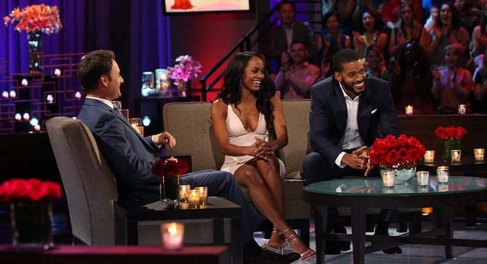 "CHRIS HARRISON, RACHEL LINDSAY, ERIC BIGGER ""The Bachelorette: The Three Hour Live Finale"" (ABC/Paul Hebert)"