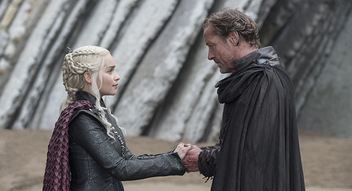 "Emilia Clarke, Iain Glen in Game of Thrones season 7 ""Eastwatch"" (Macall B. Polay/HBO)"