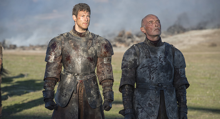 "Tom Hopper and James Faulkner as Dickon and Randyll Tarly in Game of Thrones season 7 ""Eastwatch"" (Macall B. Polay/HBO)"