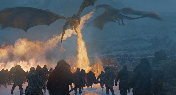 Dragon attack in Game of Thrones season 7, episode 6 (Helen Sloan/HBO)