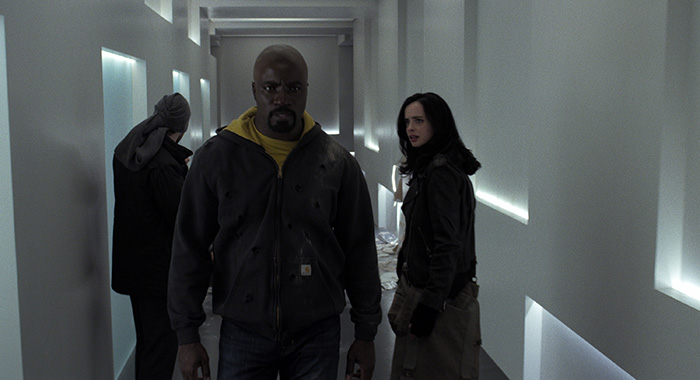 Charlie Cox, Mike Colter, Krysten Ritter in Marvel's The Defenders (Courtesy of Netflix)