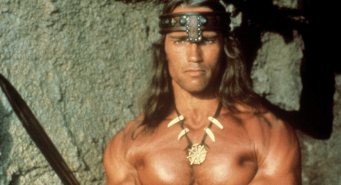 Arnold Schwarzenegger in 1982 film Conan the Barbarian (Universal Pictures)