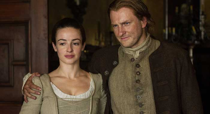 Laura Donnelly, Steven Cree in Outlander season 1 (Starz)