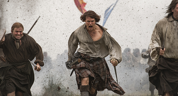 Sam Heughan in Outlander season 3 (Starz)