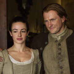 Laura Donnelly and Steven Cree in Outlander Season 1 2016 (Starz)