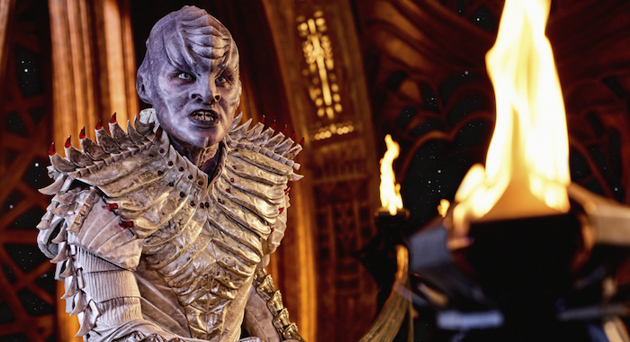 Mary Chieffo as L'Rell. STAR TREK: DISCOVERY (ames Dimmock/CBS Interactive)