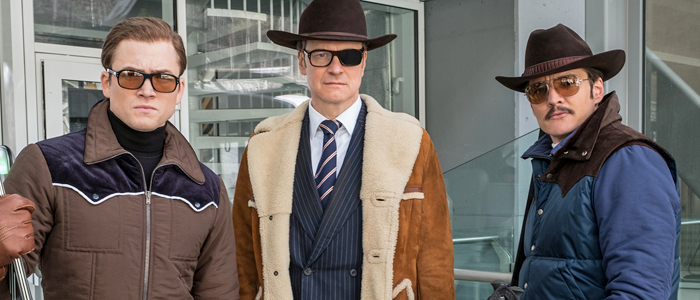 Taron Egerton, Colin Firth, and Pedro Pascal in Kingsman: The Golden Circle