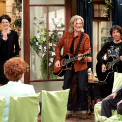 WILL & GRACE, Megan Mullally, Daryl Hall, John Oates, 'The Definition of Marriage', (Season 8, aired February 9, 2006), 1998-2006, photo: Chris Haston / © NBC / Courtesy: Everett Collection