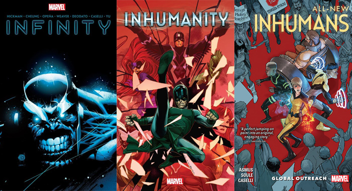 Infinity, Inhumanity, All-New Inhumans graphic novels (Marvel)