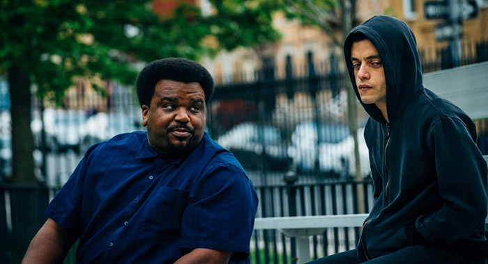 Craig Robinson, Rami Malek in Mr. Robot (USA Network)