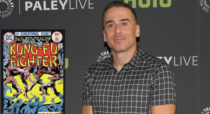 Richard Dragon comic; Kirk Acevedo in 2016 (DC Comics; Dave Mangels/Getty Images)