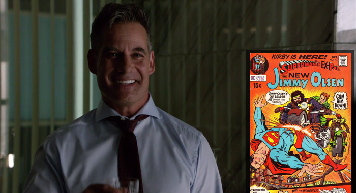 Adrian Pasdar on Supergirl; Superman's Pal Jimmy Olsen #133 (The CW; DC Comics)