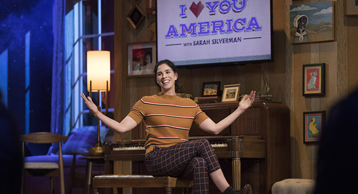 Sarah Silverman in I LOVE YOU, AMERICA (Erin Simkin/Hulu)