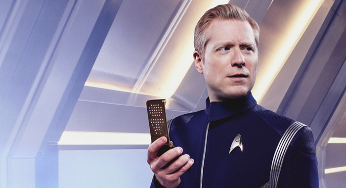 Anthony Rapp as Lieutenant Paul Stamets. STAR TREK: DISCOVERY (James Dimmock/CBS Interactive)