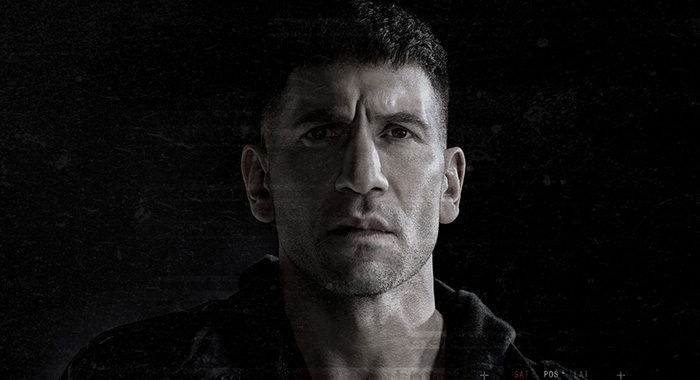 Marvel's The Punisher keyart with Jon Bernthal as Frank Castle (Netflix)