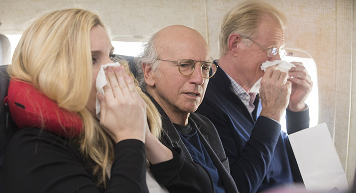 Curb Your Enthusiasm - June Diane Raphael, Larry David, Ed Begley, Jr. (John P. Johnson/courtesy of HBO)