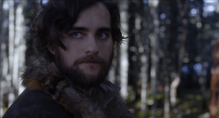Frontier season 2 trailer screencap - Landon Liboiron (Netflix)