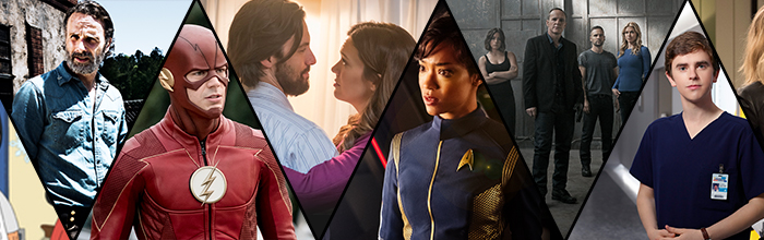 Walking Dead, The Flash, This is Us, Star Trek: Discovery, The Good Doctor (AMC; The CW; NBC; CBS All Access; ABC)