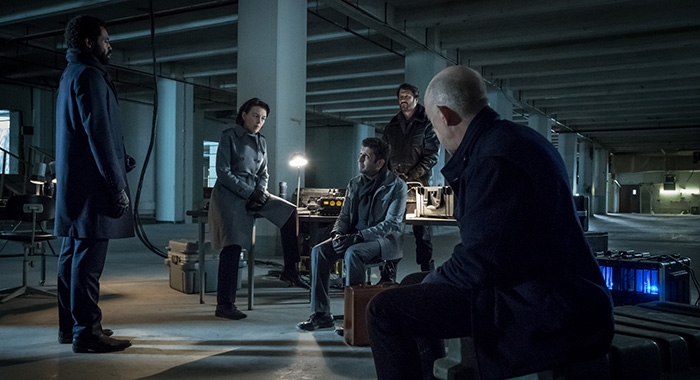 Nicholas Pinnock, Olivia Williams, J.K. Simmons in Counterpart (Starz)