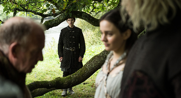 Game of Thrones: Episode 67 (season 7, episode 7), debut 8/27/17: Isaac Hempstead Wright, Aisling Franciosi, Wilf Scolding. photo: Helen Sloan/courtesy of HBO