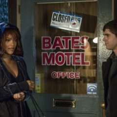 Bates Motel, Rihanna and Freddie Highmore (A&E)
