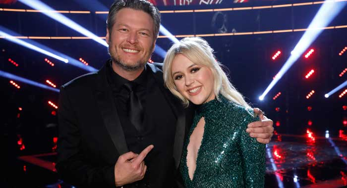 "THE VOICE -- season 13 ""Live Finale"" - Blake Shelton, Chloe Kohanski (Trae Patton/NBC)"
