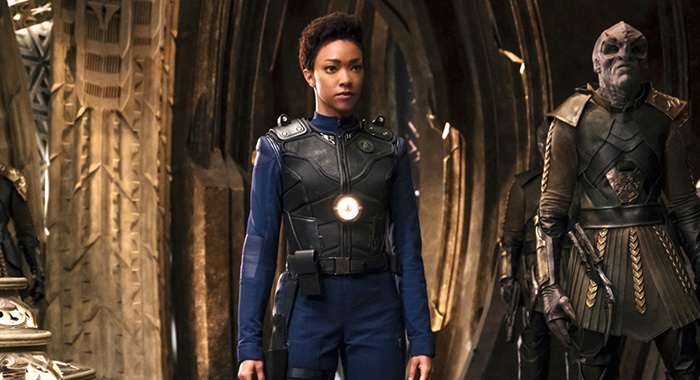"STAR TREK: DISCOVERY ""Into the Forest I Go"" -- Episode 109 -- Pictured: Sonequa Martin-Green (Jan Thijs/CBS)"