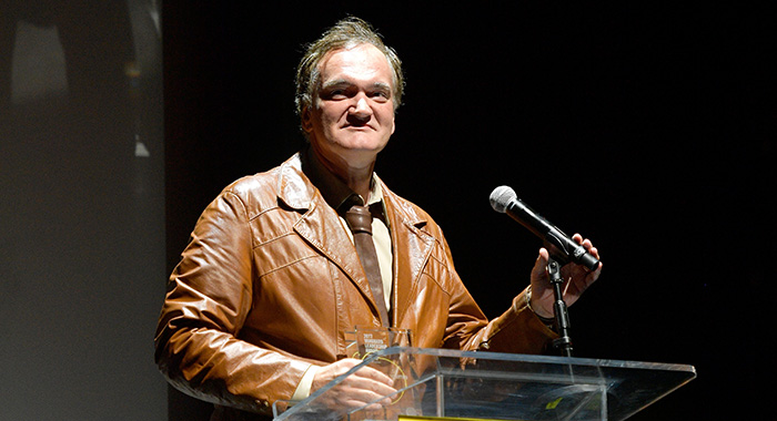 Vanguard Award recipient Quentin Tarantino speaks onstage at Sundance NEXT FEST After Dark 2017 (Matt Winkelmeyer/Getty Images For Sundance )